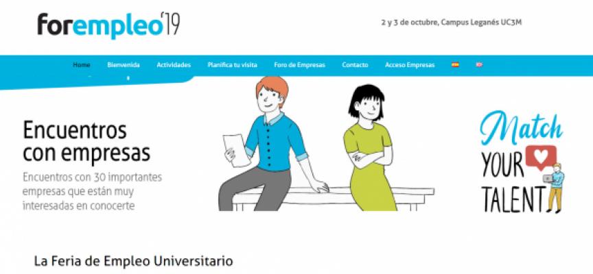 Ofertas de trabajo y prácticas en la feria «Forempleo 2019» de Madrid