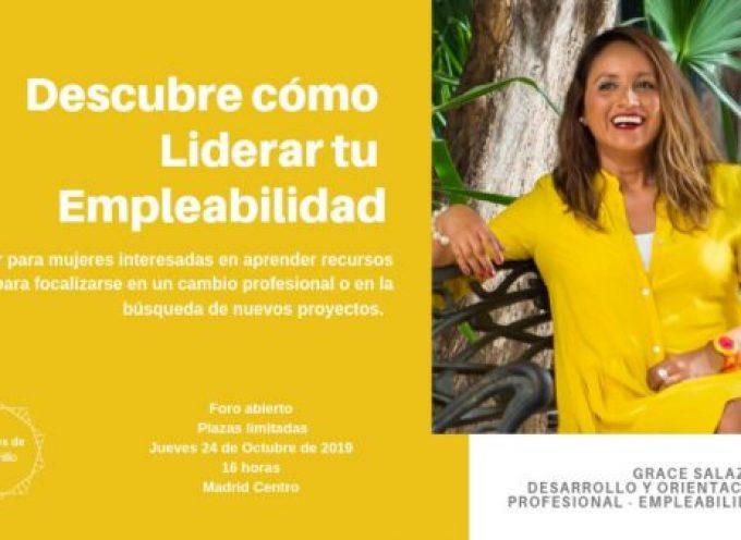 No te pierdas este Taller de Cómo liderar tu #empleabilidad en #Madrid que guía @GraceSalazar_L
