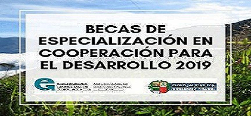 Becas de especialización en el área de cooperación para el desarrollo | plazo 9 de octubre