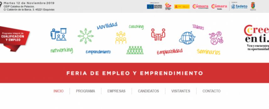 FERIA DE EMPLEO Y EMPRENDIMIENTO en Esquivias (Toledo) – 12 de noviembre