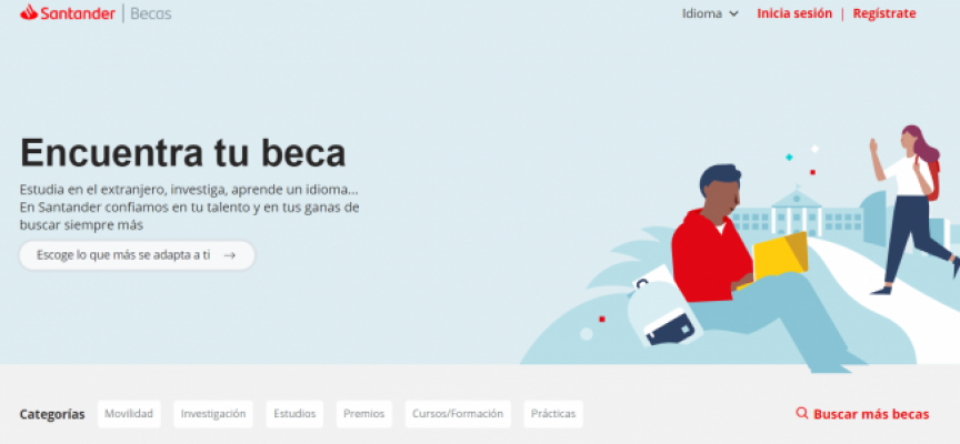 Más de 1000 becas de grado e investigación en España de Banco Santander