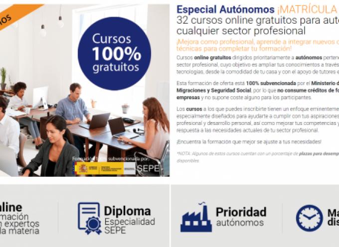 El SEPE lanza más de 1.000 plazas en 30 cursos online gratis para autónomos