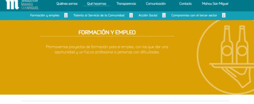 Formación y Empleo en Fundación Mahou-San Miguel
