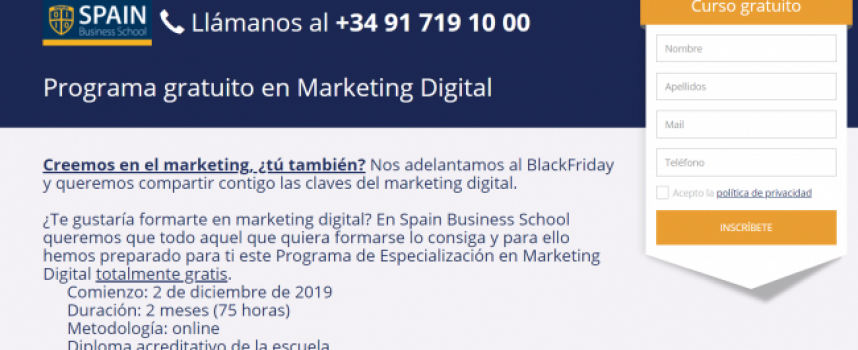 Programa Gratuito de Especialización en Marketing Digital