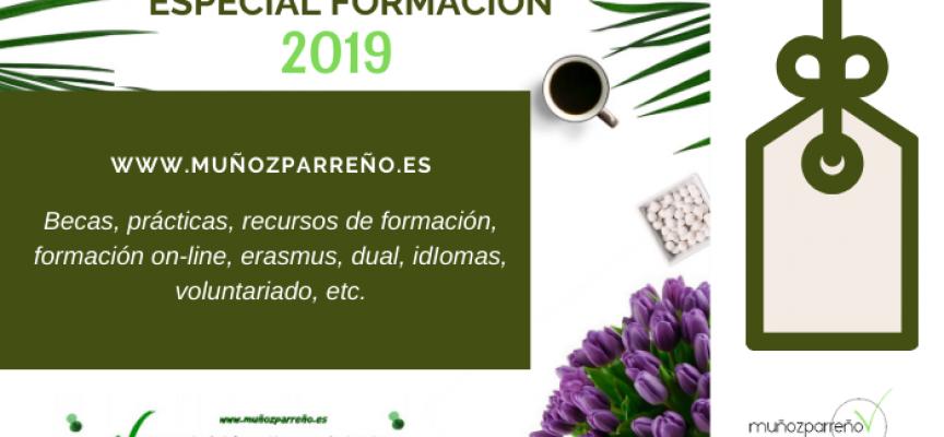 Especial Formación 2019 – (recursos, cursos, formación on-line, dual, idiomas, voluntariado, prácticas, becas, etc., y que no debes perderte)