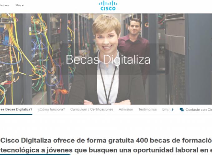 Cisco beca a 400 jóvenes en la II Edición de las «Becas Digitaliza»