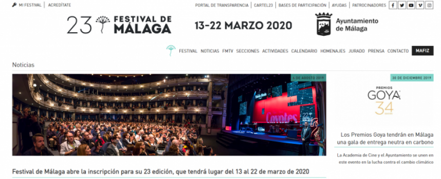 Se busca personal para trabajar en el Festival de Málaga