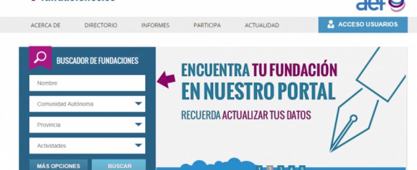 Cómo acceder a la web de información de fundaciones españolas