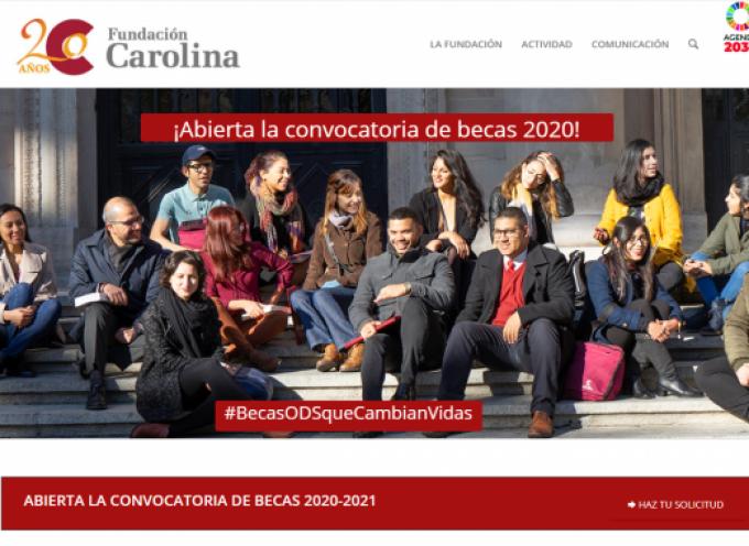 Becas de la Fundación Carolina para estudiar en España