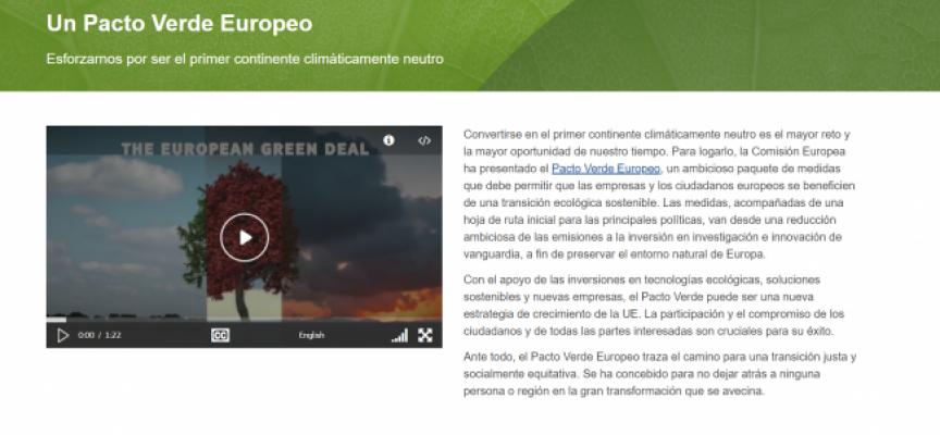 La Comisión Europea presenta el Pacto Verde Europeo, la gran hoja de ruta climática con la que quiere transformar Europa