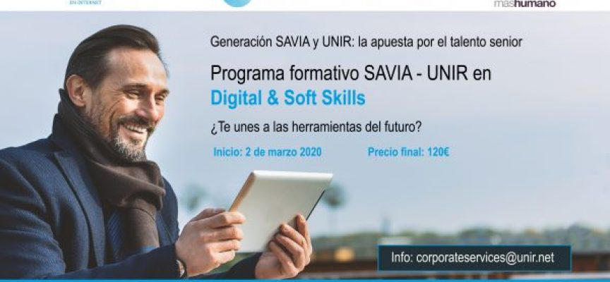Generación Savia y UNIR anuncian un programa formativo para la empleabilidad de mayores de 50 años