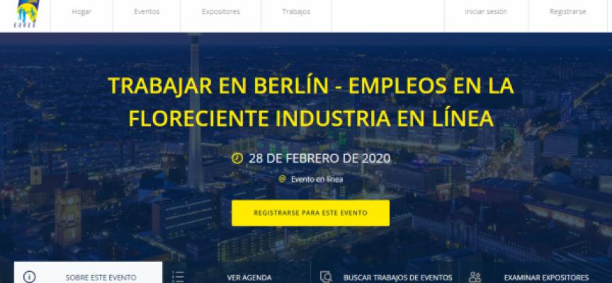 80 empleos en el próximo evento online para encontrar trabajo en Berlín | 28/02/2020