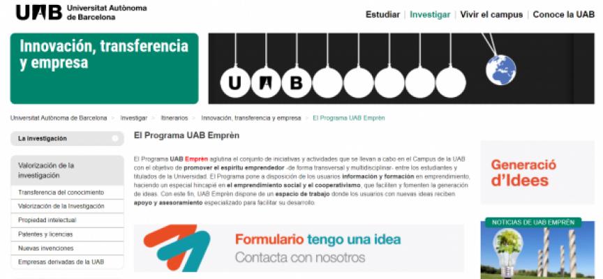 Startup Lab UAB, concurso de proyectos emprendedores de carácter social y sostenible | Plazo 14 de febrero