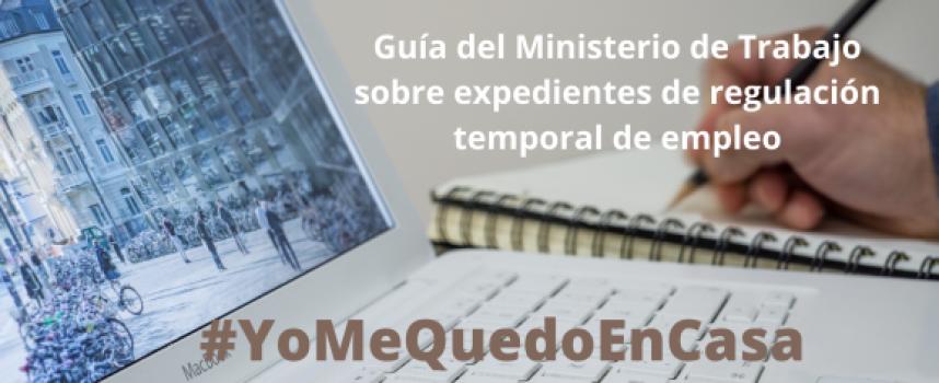 Guía del Ministerio de Trabajo sobre expedientes de regulación temporal de empleo