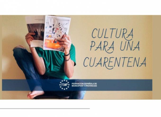 La Federación Española de Municipios y Provincias (FEMP) ofrece 'Cultura para la cuarentena', un recopilatorio de fuentes de recursos culturales online.