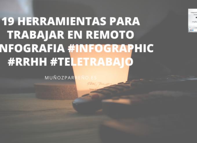 19 herramientas para trabajar en remoto #infografia #infographic #rrhh #teletrabajo