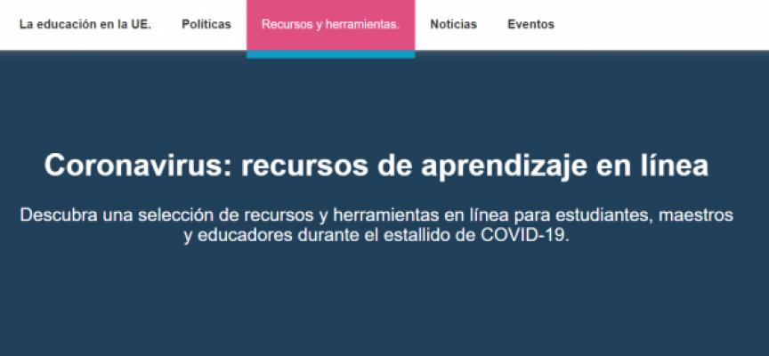 Coronavirus: recursos de aprendizaje en línea