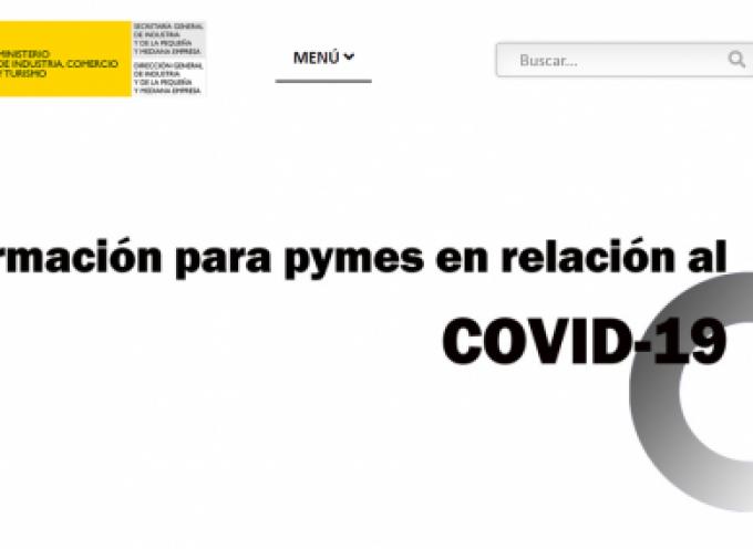 Información Covid-19 con recursos para pymes con especial apoyo autónomos y empresas