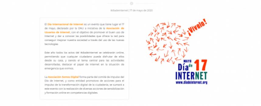 Actividades programadas por el Día Mundial de Internet por parte de la Asociación Somos Digital