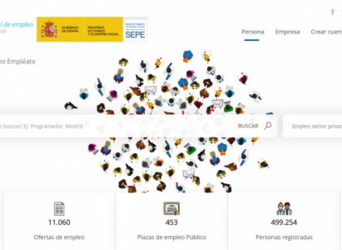 Web que oferta más de 39.000 puestos de trabajo en toda España