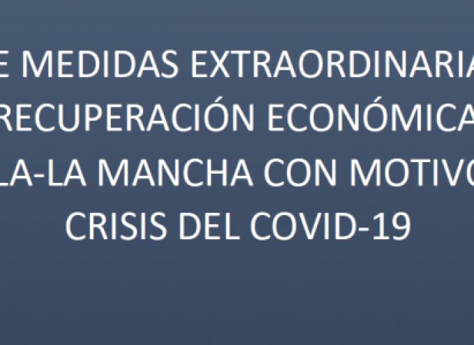 Plan de Medidas Extraordinarias para la recuperación económica de Castilla-La Mancha con motivo de la crisis del Covid-19