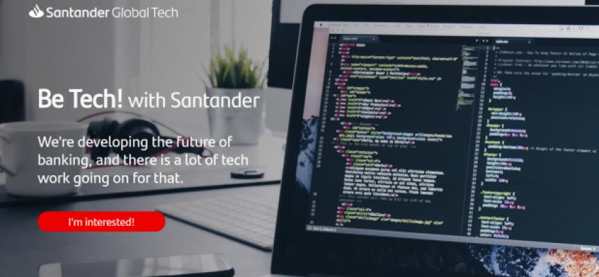 El Banco Santander contratará en España 500 profesionales con perfiles digitales