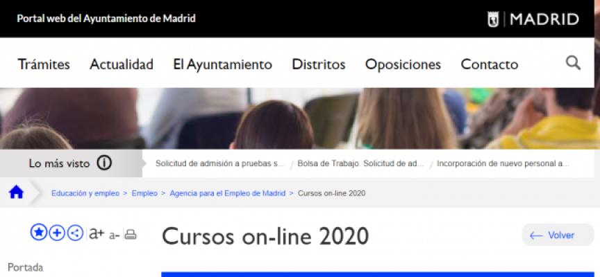 Más de 200 nuevos cursos online del Ayuntamiento de Madrid. Abierta inscripción