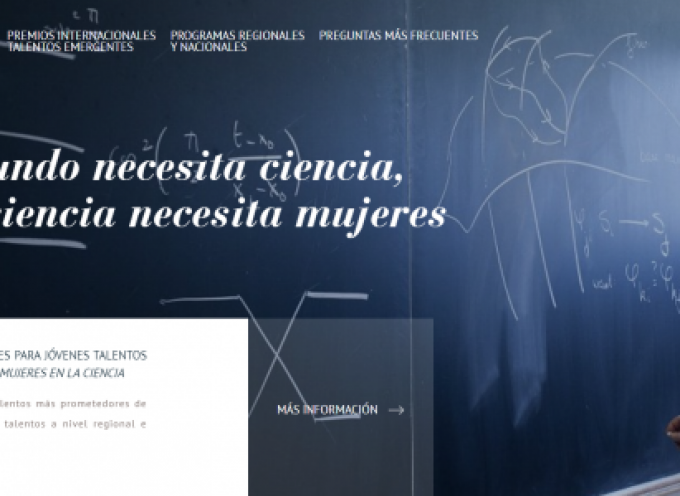 Abierto plazo de inscripción premios L'Oréal-UNESCO 'For Women in Science'