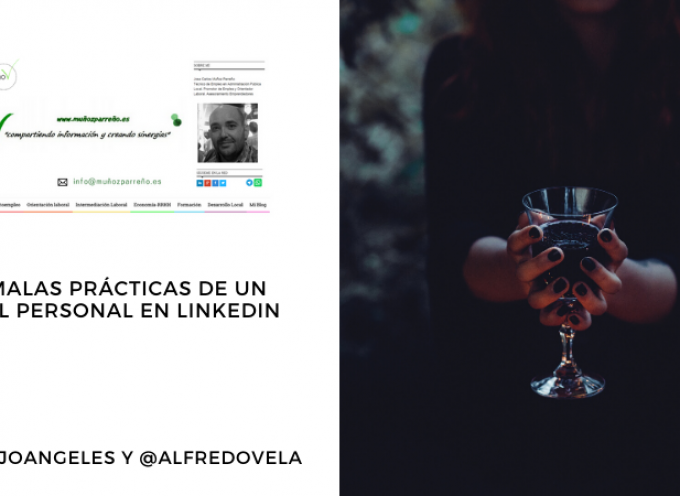 48 malas prácticas de un perfil personal en LinkedIn #infografia #infographic #socialmedia