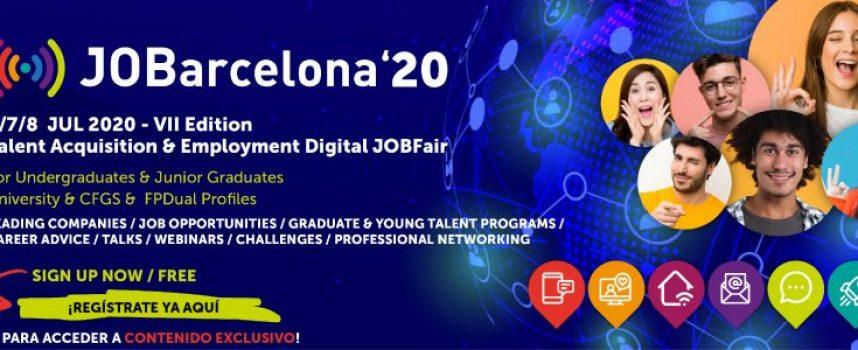 6.200 Oportunidades profesionales en el JOBarcelona virtual 2020 | 6, 7 y 8 de julio