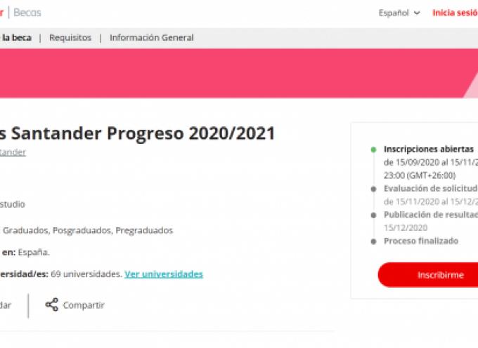 Convocatoria de 748 becas de 1.000€ cada una. Becas Progreso