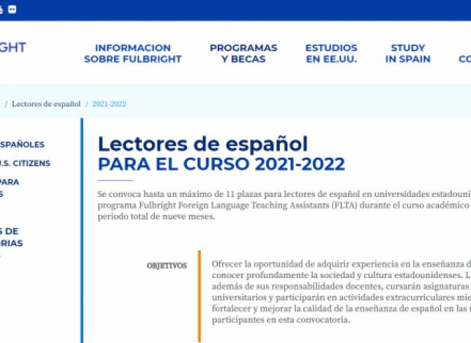 Plazas para lectores de español en universidades estadounidenses
