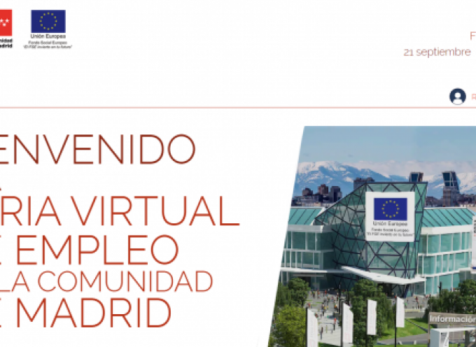 Nueva Feria Virtual de Empleo de la Comunidad de Madrid | del 21 al 27 de septiembre