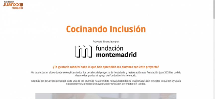'Cocinando inclusión', el proyecto que apoya el desarrollo profesional de personas con discapacidad
