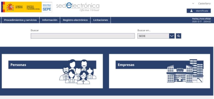 Nueva sede electrónica del SEPE que facilita realizar multitud de trámites