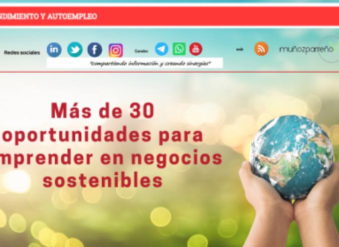 Más de 30 oportunidades para emprender en negocios sostenibles