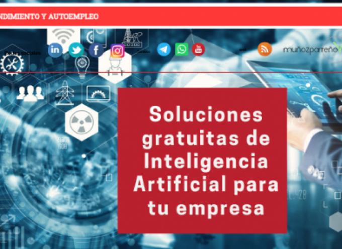 Soluciones gratuitas de Inteligencia Artificial para tu empresa
