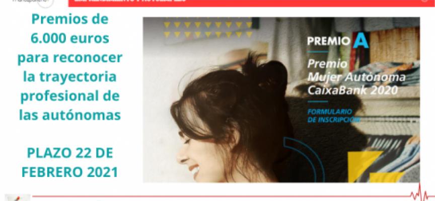 PRIMERA EDICIÓN DEL GALARDÓN DE CAIXABANK PARA MUJERES AUTÓNOMAS –  Premios de 6.000 euros para reconocer la trayectoria profesional de las autónomas