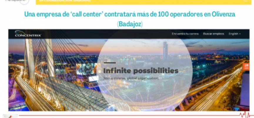 Una empresa de 'call center' contratará más de 100 operadores en Olivenza (Badajoz)