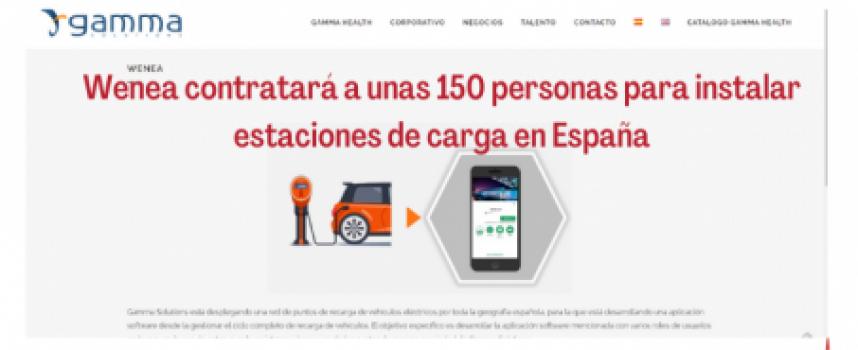 Wenea contratará a unas 150 personas para instalar estaciones de carga en España