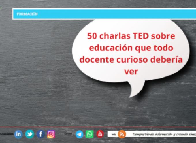 50 charlas TED sobre educación que todo docente curioso debería ver