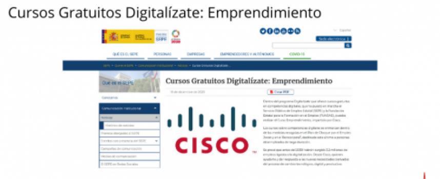 Cursos Gratuitos Digitalízate: Emprendimiento
