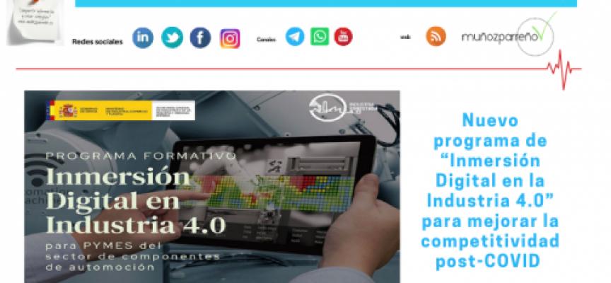 """Nuevo programa de """"Inmersión Digital en la Industria 4.0"""" para mejorar la competitividad post-COVID"""