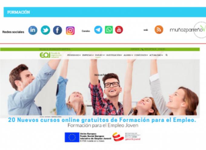 20 Nuevos cursos online gratuitos de Formación para el Empleo. Inicio en Febrero