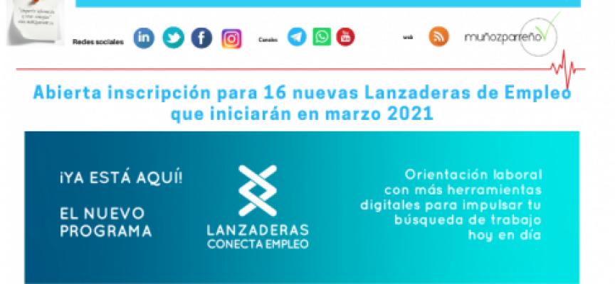 Abierta inscripción para 16 nuevas Lanzaderas de Empleo que iniciarán en marzo 2021