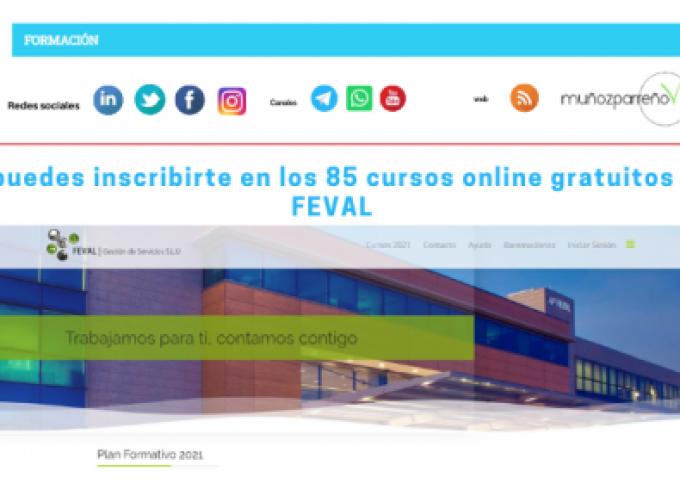 Ya puedes inscribirte en los 85 cursos online gratuitos de FEVAL