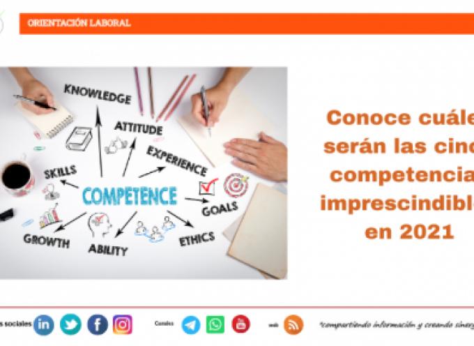 Conoce cuáles serán las cinco competencias imprescindibles en 2021