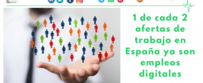 1 de cada 2 ofertas de trabajo en España ya son empleos digitales