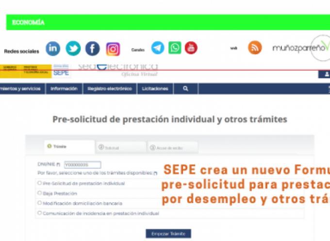 SEPE crea un nuevo Formulario pre-solicitud para prestaciones por desempleo y otros trámites