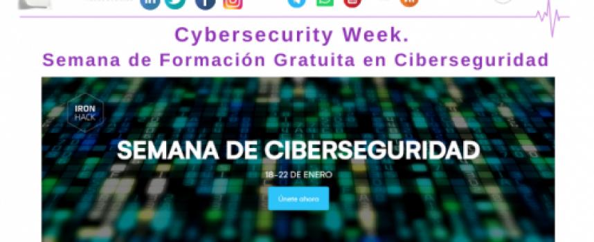CybersecurityWeek. Semana de Formación Gratuita en Ciberseguridad